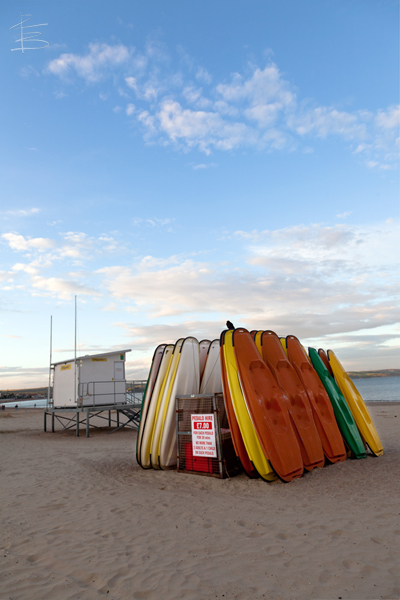 Kayaks on Weymouth Beach