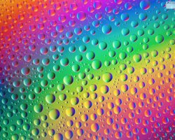 Polarised Water Drops