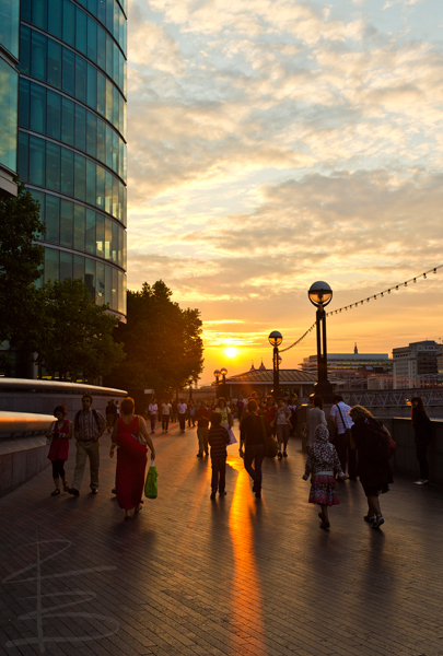 Queen's Walk Sunset