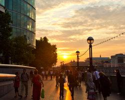 Queen's Walk Sunset