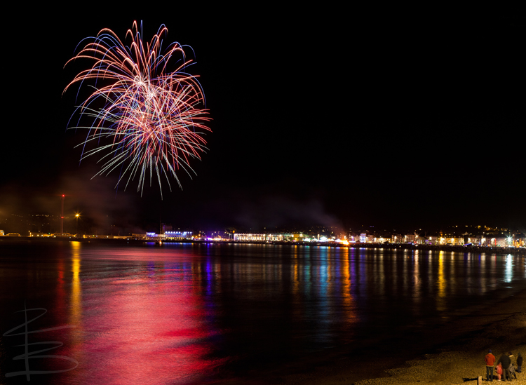 Bonfire Night on Weymouth Beach