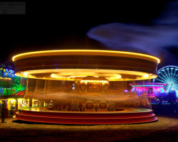 Merry-go-round at Night