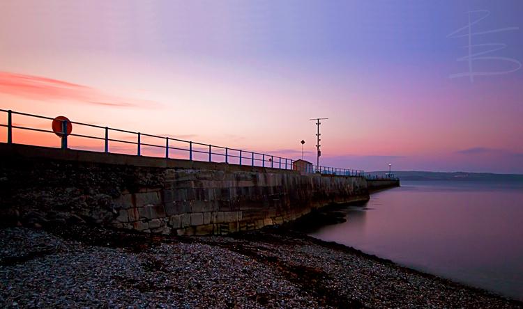 Stone Pier Sunset
