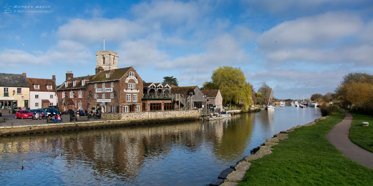 The River Frome at Wareham (pano)