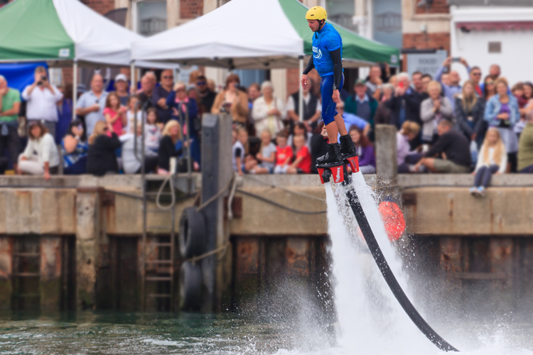 Flyboarding Demonstration at Waterfest 2015 b