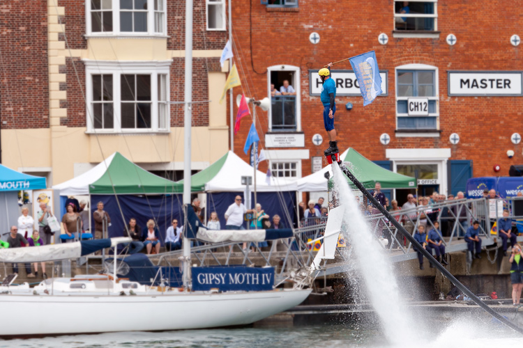 Flyboarding Demonstration at Waterfest 2015 d