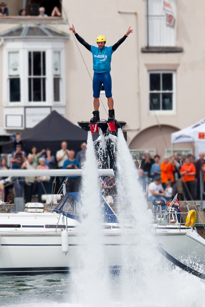 Flyboarding Demonstration at Waterfest 2015 f