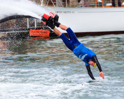 Flyboarding Demonstration at Waterfest 2015 g