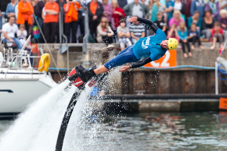 Flyboarding Demonstration at Waterfest 2015 h