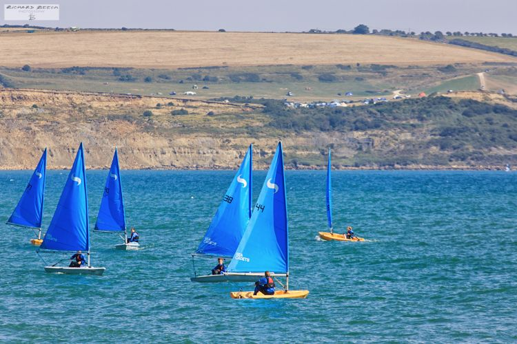 Sailing in Weymouth Bay