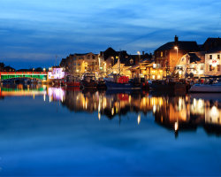 Nighttime at Weymouth Harbour
