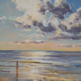 Britanny beach pastel ( not in print)
