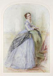 Lady Mundy watercolour portrait