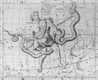 Ophiuchus & Serpens from John Flamsteed's Atlas Coelestis