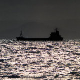 Ship off the Isle of Arran