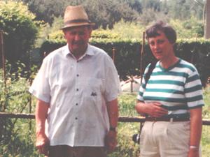 With Mr Horak at Klanovice in 1992