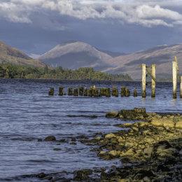 Loch Awe Old Pier Pilings