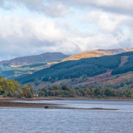 Loch Awe Mountains And Sun