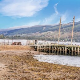 Inverary Dock & Moutains
