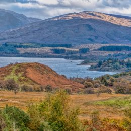 Loch Awe Mountains And Fields