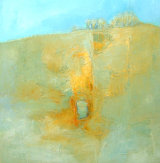 Indian Yellow: OIL ON CANVAS 50X50CM AT Burnham Grapevine Gallery.