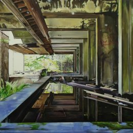 St Peter's Seminary (Drift) - Oil on canvas  170x130cm (Private collection)