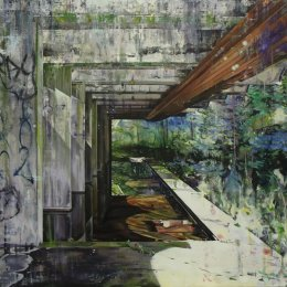 St Peter's Seminary (Stray) Oil on canvas over panel 160x130cm (Private collection)