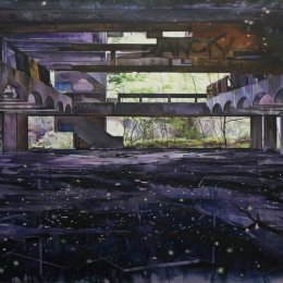 St Peter's Seminary (Vault) Oil on canvas -  183x152cm (Private collection)