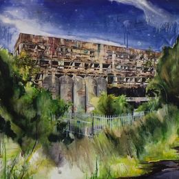 St Peter's Seminary (Wilderness) Oil on canvas 145x120cm (Private collection)