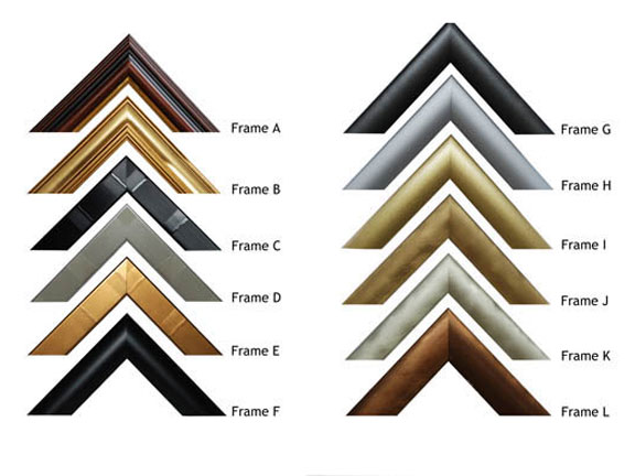 A large selection of frames available.