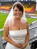 Wedding Photography at the Bradford Bulls stadium.