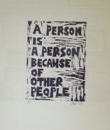 A person is a person because of other people 2015