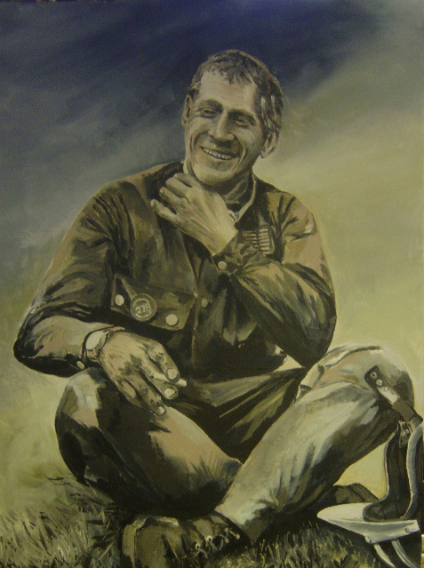 Steve McQueen Portrait nearing completion