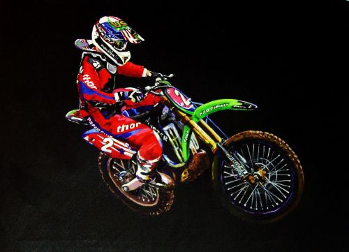 Ryan Villopoto painting for Moto tees
