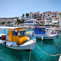 Skopelos boats