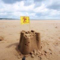 Saundersfoot sandcastle