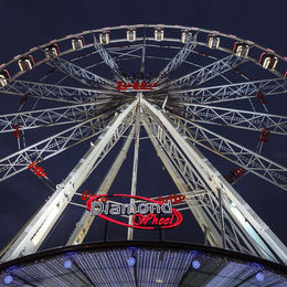 Big wheel at Brussels Christmas Market