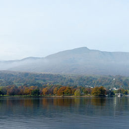 Old Man Coniston towers above Coniston Water