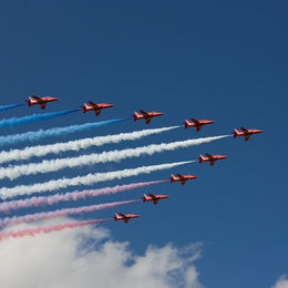 Red Arrows, Blue Sky, White Clouds
