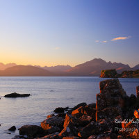 The Cuillin and Blaven from Tokavaig, Skye