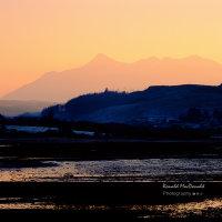 Outline of Sgurr nan Gillean at Low Tide, Isle of Skye