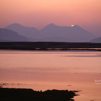 Sunset over the Red Hills, Skye