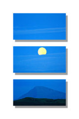 Moon rising over Meall a' Mhaoil - Triptych