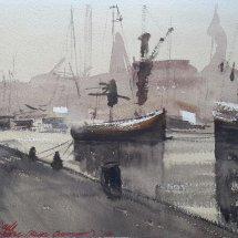 Harbour Scene: my version of an Alvaro Castagnet