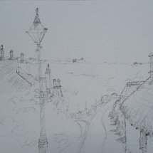 Pencil Sketch Cregneash Village, Isle of Man