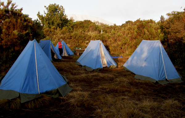 Our first camp in early morning light