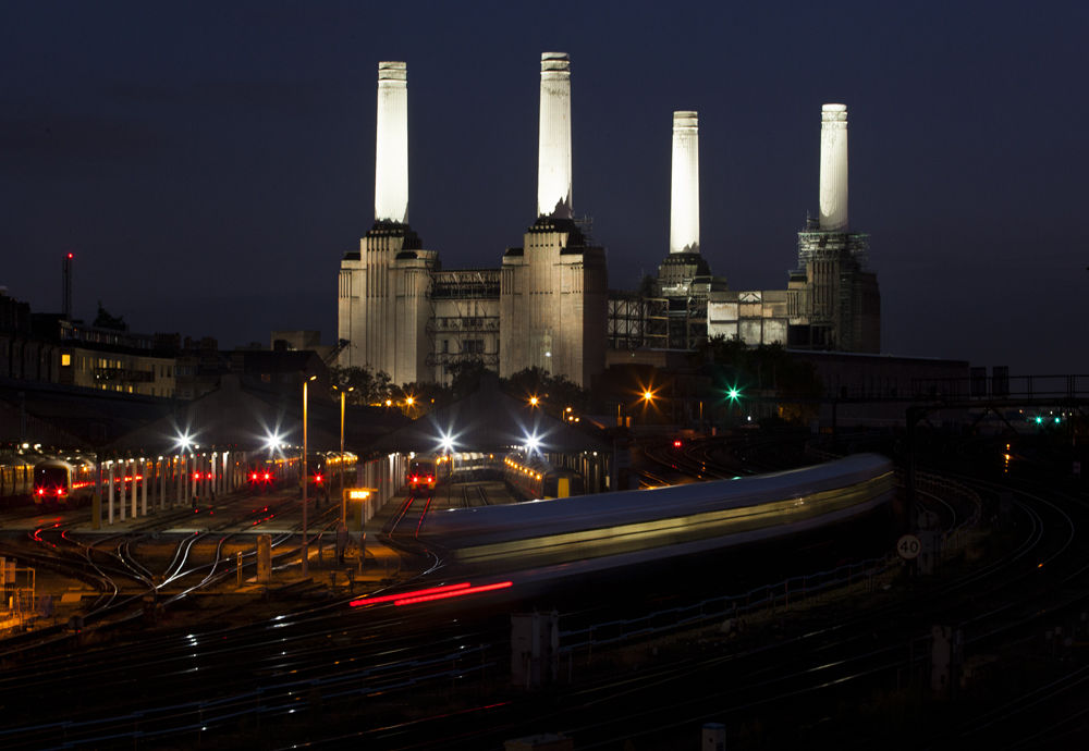 Battersea at night