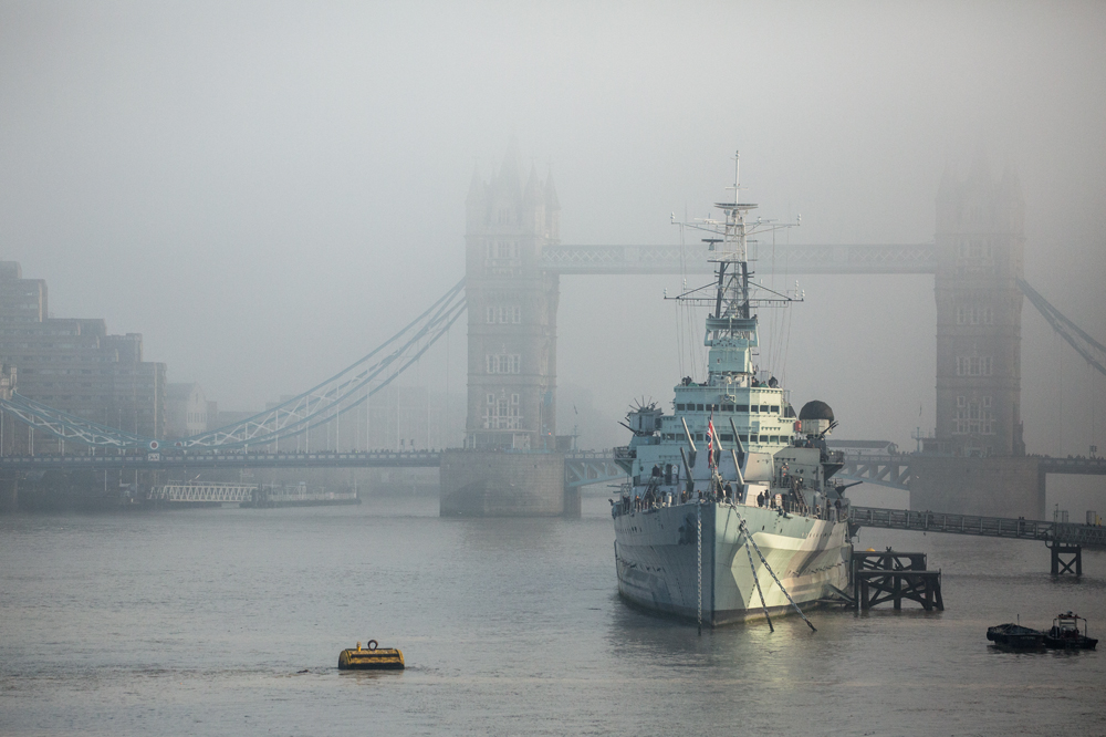 Belfast in Fog