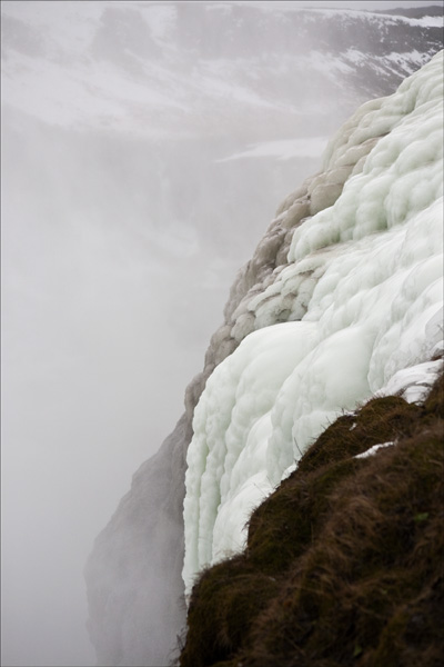 Gullfoss ice wall.