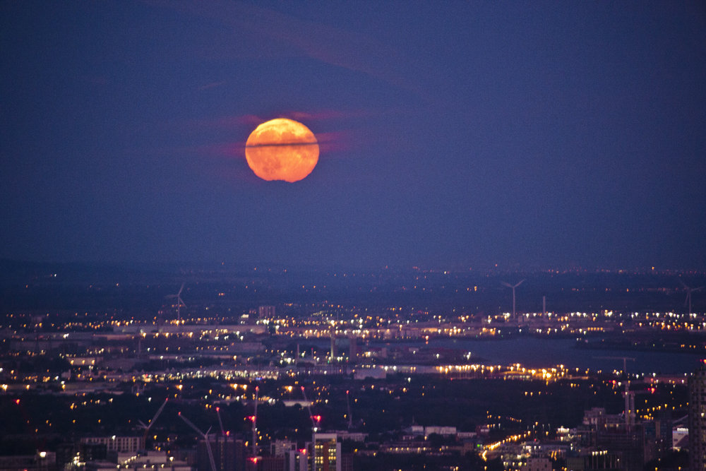 Supermoon over London